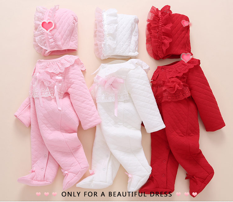 2c5f0be19 Baby clothes spring and autumn cotton 0-3 months 6 baby girl onesies  quilted cotton newborn baby girl spring princess 12